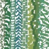Getrokken de hand mengde tellerslijnen gebaseerd die patroon, uit het buigen, manueel geproduceerde strepen, in groenachtige tone Stock Afbeelding