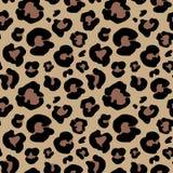 Getrokken de hand van de luipaardhuid dierlijke druktekening Naadloos patroon Vector illustratie Stock Fotografie