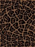 Getrokken de hand van de luipaardhuid dierlijke druktekening Naadloos patroon royalty-vrije illustratie