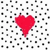 Getrokken de kaartstippen van Valentine hand vector illustratie