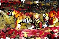 Getrokken dieren Stock Foto
