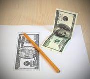 Getrokken dollars Stock Afbeeldingen