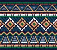 Getrokken geometrisch lineair patroon Royalty-vrije Stock Foto