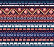 Getrokken geometrisch lineair patroon Stock Foto
