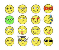 Getrokken Glimlachen Royalty-vrije Stock Afbeeldingen