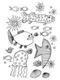 Vissen, inzameling Stock Afbeelding