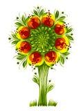 Van de de boomOekraïne van de bloem de stammen etnische stijl   Royalty-vrije Stock Afbeeldingen