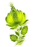 Etnische stijl van de Oekraïne van de bloem de groene   Stock Foto