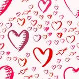 Getrokken harten naadloos patroon voor Valentijnskaartendag vector illustratie