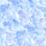 Getrokken het document van waterverf blauwe witte slagen hand textuur Naadloos patroon Stock Fotografie