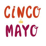 Getrokken het van letters voorzien van Cinco De Mayo hand ontwerp