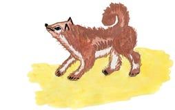 Getrokken hond Royalty-vrije Stock Afbeeldingen