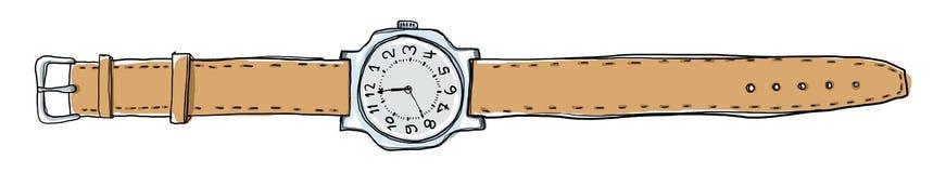 Getrokken horloges uitstekende hand Stock Afbeelding