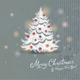 Getrokken Kerstboom Stock Foto's