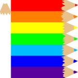 Getrokken in kleurpotloden Stock Afbeeldingen