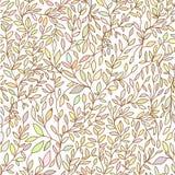 Getrokken naadloze het patroonpastelkleur van de brunchaard hand Stock Afbeeldingen