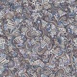 Getrokken stad van beeldverhaal de vectorkrabbels hand Stock Foto's