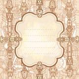 Getrokken steampunk frame Royalty-vrije Stock Afbeelding