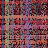 Getrokken teller, zigzagstrepen overlappen, die moderne, overladen textuur vormen Royalty-vrije Stock Afbeeldingen