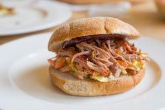 Getrokken varkensvleessandwich Royalty-vrije Stock Afbeeldingen