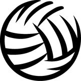 Getrokken volleyball Stock Foto