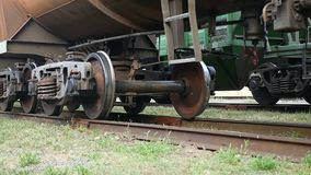 Gets train underway on the iron wheels video. Gets train underway on iron wheels video stock footage