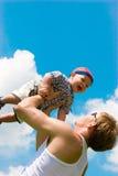 Gettando bambino in su Fotografie Stock