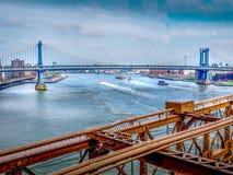 Gettare un ponte su Manhattan Fotografie Stock Libere da Diritti