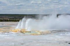 Getti di acqua dal geyser Immagini Stock Libere da Diritti
