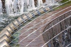 Getti di acqua in una fontana Fotografie Stock