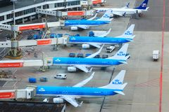 Getti di KLM al portone Immagine Stock