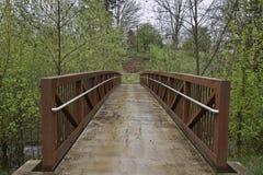 Getti un ponte su alla traccia di escursione 2 fotografie stock