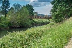 Getti un ponte su sopra il Green River 2 Fotografie Stock Libere da Diritti
