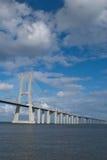 Getti un ponte sul Gama Lisbona Portogallo di Vasco da Fotografie Stock Libere da Diritti