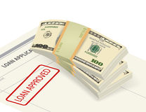 Getting approved business financial concepts Royalty Free Stock Photo