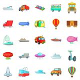 Getting around the world icons set, cartoon style. Getting around the world icons set. Cartoon set of 25 getting around the world vector icons for web isolated Royalty Free Stock Photo