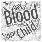 Getting Back on Track after Blood Sugar Spikes word cloud concept background Royalty Free Stock Image