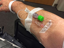 Getting Blood work Through a vein Stock Photo