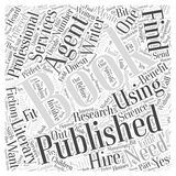 Getting a Book Published Do You Need an Agent word cloud concept background Stock Photos