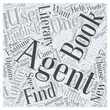 Getting a Book Published How to Find a Literary Agent word cloud concept word cloud concept  background Stock Photos