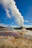 Getting Close to a Geyser Erupting Royalty Free Stock Photo