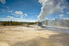Getting Close to a Geyser Erupting Royalty Free Stock Photography
