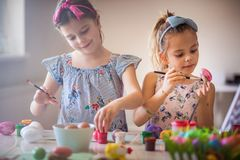 Getting comfortable to get creative for Easter stock photos
