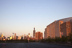 Getting dark in Chicago Stock Photography