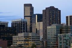 Getting dark in Denver Stock Image