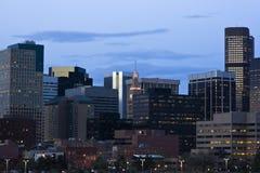 Getting dark in Denver Royalty Free Stock Photo