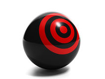 Getting into the desired target. 3d Illustration: Business ideas. Getting into the desired target, the decision difficult problems, new ideas Stock Image
