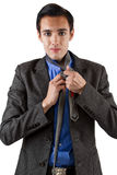 Getting Dressed for Work Royalty Free Stock Photo
