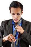 Getting Dressed for Work Royalty Free Stock Images