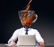 Getting energy with coffee Stock Image